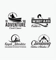 adventure logo badges 7 vector image vector image