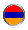 Armenia flag button vector image vector image