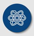 atom sign white contour icon vector image vector image