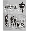 attitude skater vector image