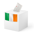 Ballot box with voting paper Ireland vector image vector image