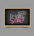 blackboard black friday sale vector image