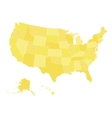 Blank map of USA in four shades of blue vector image vector image