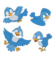 blue birds cartoon vector image vector image