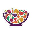 bowl with vegetables vector image