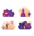 business success start up bicycle idea icon set vector image vector image