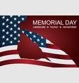 captain saluting the usa flag for memorial day vector image vector image