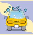 car wash soap bubbles service maintenance vector image