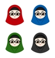 Cartoon avatars of girls with hijab vector image vector image