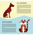 Cat and dog flyers vector image vector image