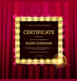 certificate diploma of completion vector image vector image