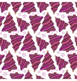 Christmas seamless pattern Purple wrapping vector image vector image