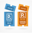 color torn parking ticket icon set vector image