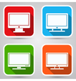 Computer monitor icons vector image vector image