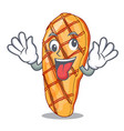 crazy grilled chicken breasts isoslated on mascot vector image vector image