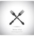 Crossed forks - vector image vector image