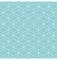 cube pattern background blue green vector image vector image