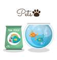 cute fish colors isolated icon vector image vector image