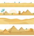 desert landscape seamless borders sand dunes vector image vector image