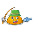 fishing fried patties isolated on the mascot vector image
