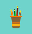 flat icon on background pencils in stand vector image vector image