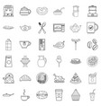 foodstuffs icons set outline style vector image vector image