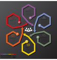 Fusion Rotate Hexagon And Arrows Line Business vector image vector image
