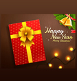 gift box merry christmas happy new year vector image vector image