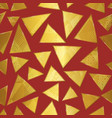 gold triangle seamless pattern vector image