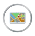 GPS icon of for web and mobile vector image
