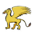 griffin mythological animal vector image vector image