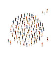 group people in shape a circle vector image