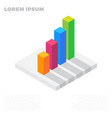 growth graph chart market success stock bar up vector image
