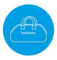 gym bag isolated icon vector image vector image
