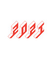 happy new year 2021 isometric view inscription vector image