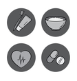 health icons medicine medical signs vector image vector image