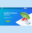 health insurance 3d template vector image vector image