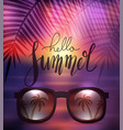 hello summer handwritten lettering with vector image vector image