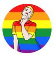 homosexual symbol vector image