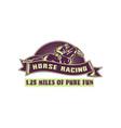 Horse and jockey racing race woodcut vector image vector image