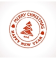 Isolated stamp Christmas greeting vector image vector image