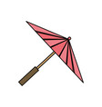 japanese umbrella isolated vector image