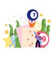 lottery game concept internet casino bingo vector image vector image