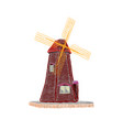 old wooden windmill sketch vector image vector image