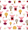 pattern with pigs vector image vector image