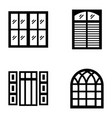 plantation shutters icons vector image vector image