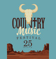 poster or banner for country music festival vector image