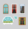 printdifferent interior windows of various forms vector image vector image