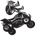 quad bike vector image vector image