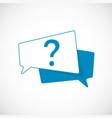 question mark doodle question mark as blue speech vector image vector image